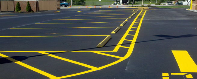 Parking lot striping archives linear striping for Cost to paint parking lot lines